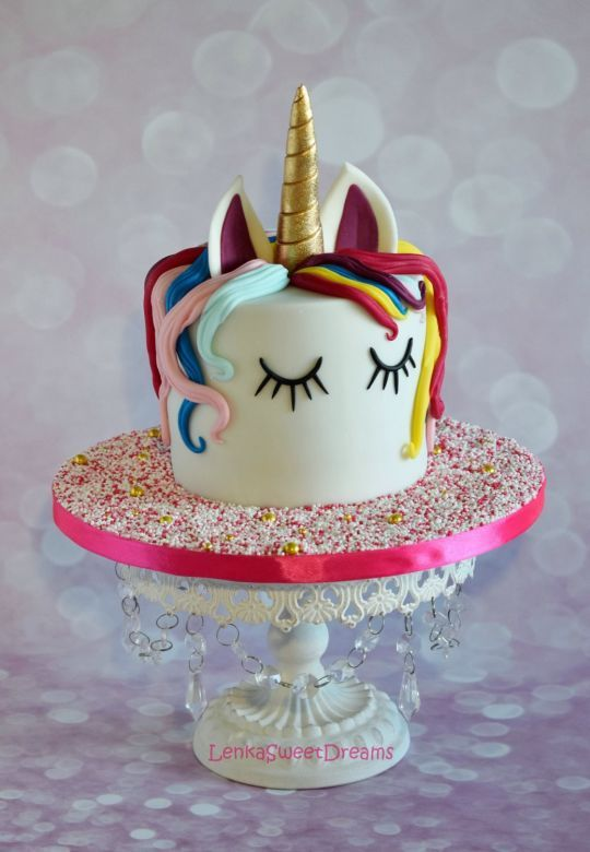 Unicorn Cake Toppers For Th Birthday