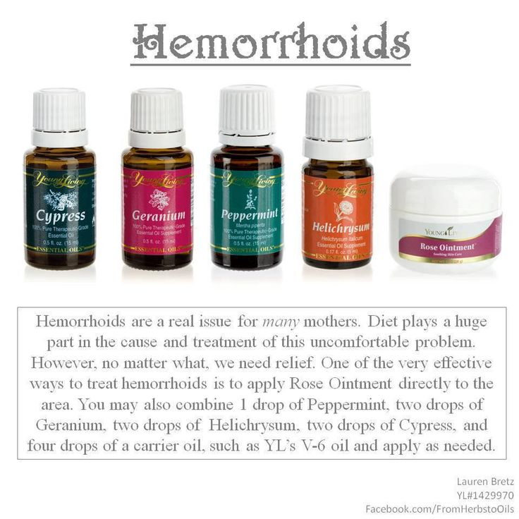 Hemorrhoid Treatment Essential Oils