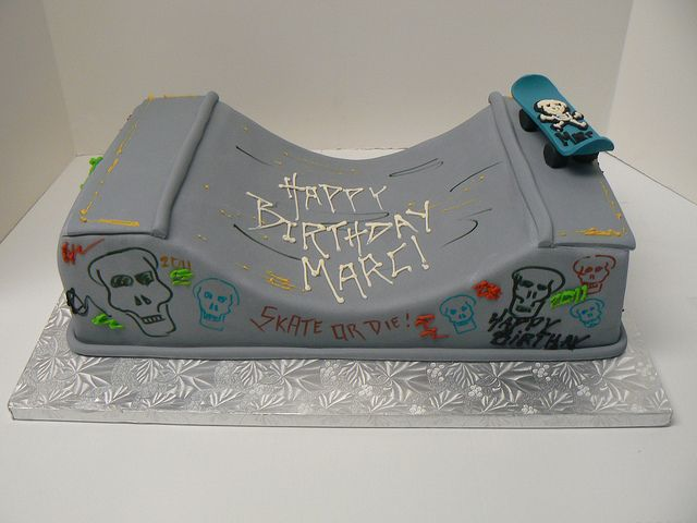 Skateboarder cake from the Night Kitchen Bakery