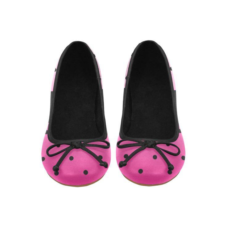 Pink Polka Dot Fade Juno Ballet Pumps (Model 312)