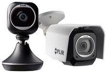 Flir - FX Wireless Surveillance Cameras (2-Count) - Black/Silver