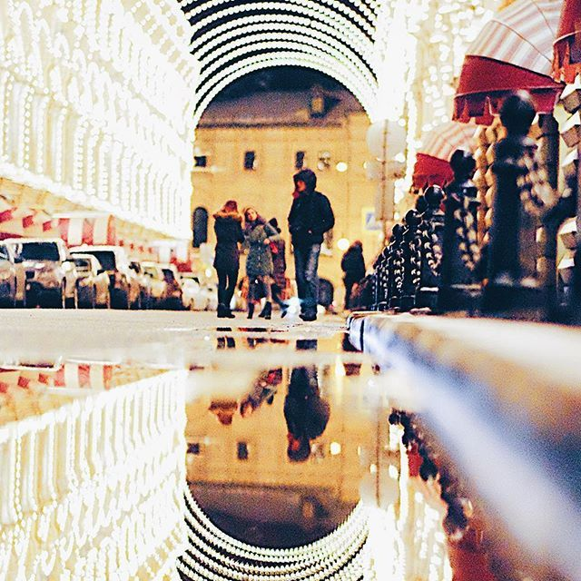 GUM. State Department Store in Moscow, Russia. Reflections