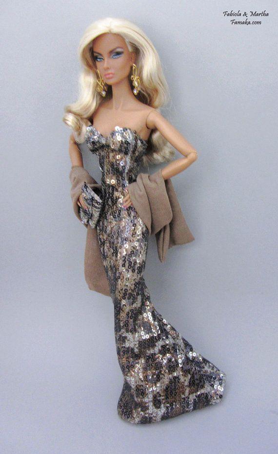 Leopard Pailletten Kleid Mode für Fashion lizenzfreie von Famaka