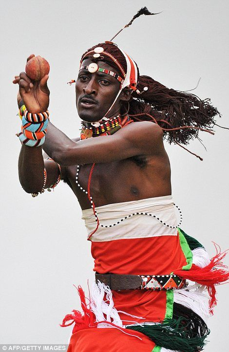 members of the maasai warrior cricket team 2012