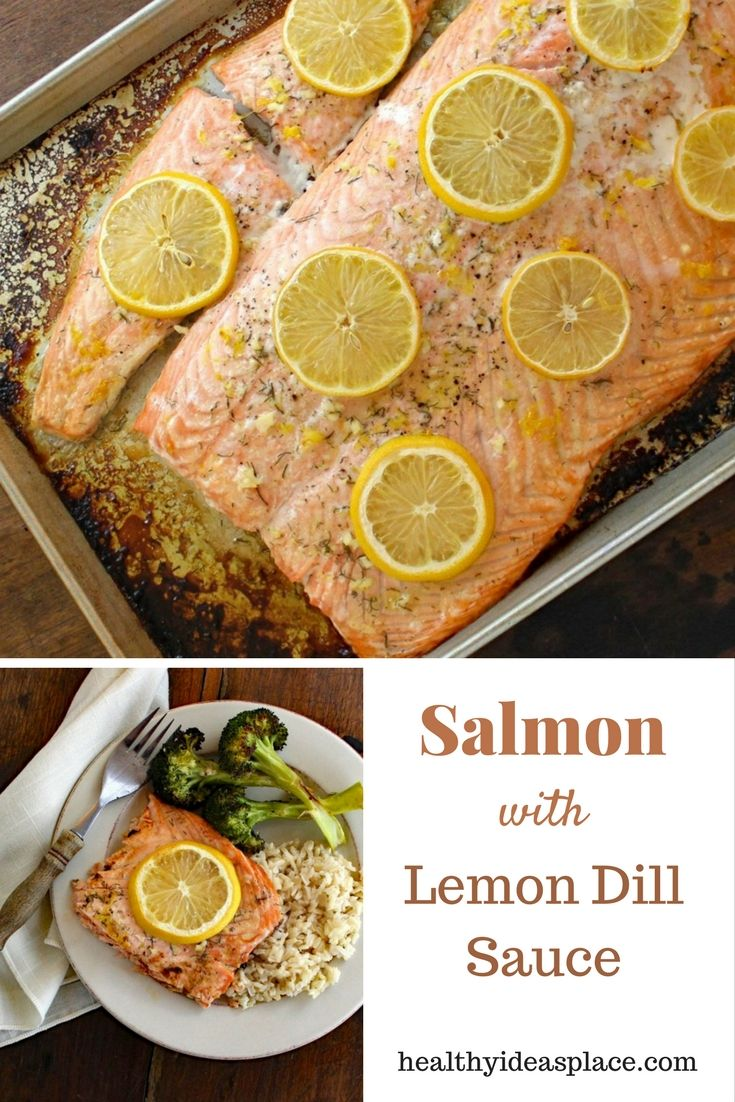 Seasoned with lemon, garlic, and dill, Baked Salmon with Lemon-Dill ...