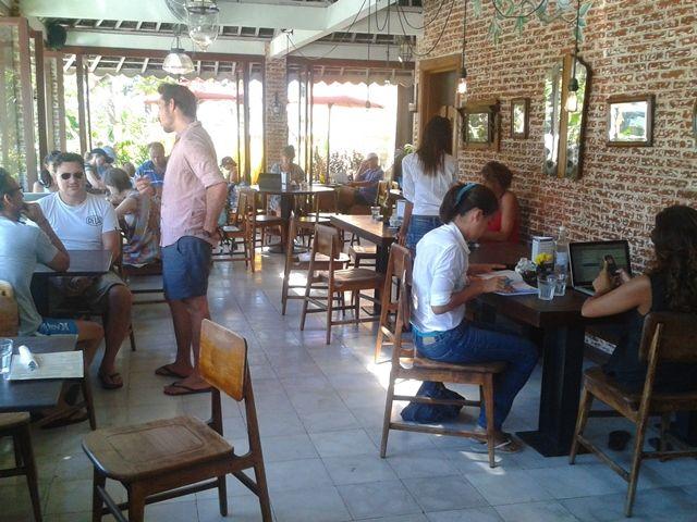 cozy furniture at Watercress, Batu Belig, Bali: brunch hotspot