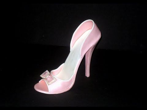 ▶ Fondant High Heel Shoe Tutorial - YouTube  -  Cake Supplies Plus