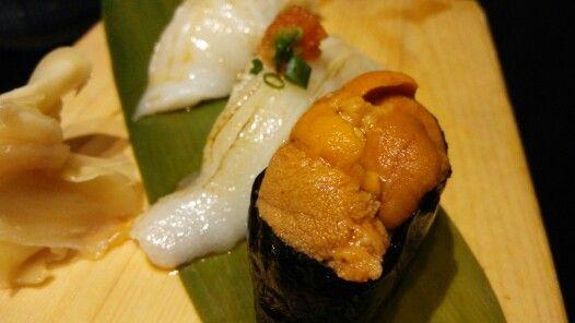 Uni sushi and Engawa sushi : Sushi Hiro