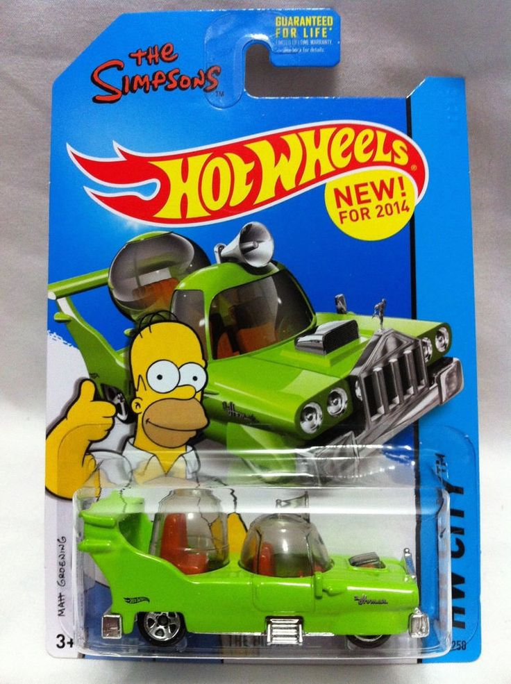 2014 Hot Wheels ''hw  city'' #89 = The Homer = Green ''The Simpsons'' NIP!!!!