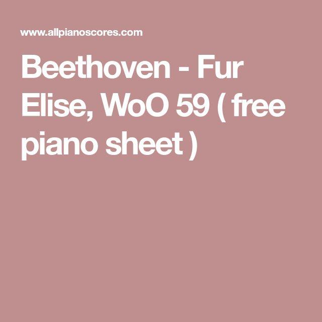 fur elise piano sheet free pdf