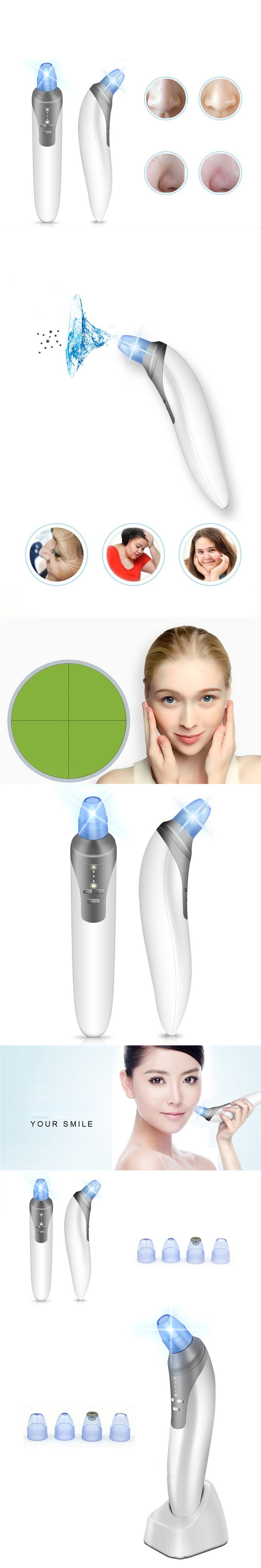 2017 Hot USB Electric Facial Pore Cleaner Suction Nose Blackhead Remover Pimple Acne Extractor Tool Beauty Machine Skin Care