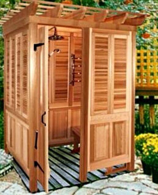 My dream outdoor shower room