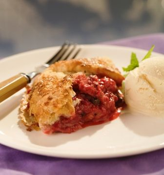 Simply Ming on PBS - Ming Tsai Joanne Chang's Raspberry-Rhubarb Free Form Crostata Episode 904-Cooking on the Fly: Working with Butter