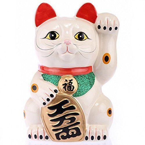 chat chinois porte bonheur 20cm