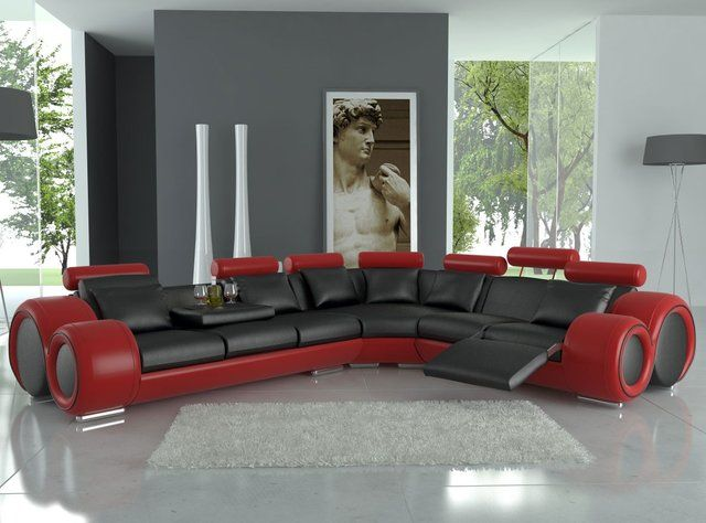 133 Fancy Franco Bonded Leather Sectional Sofa By Tosh