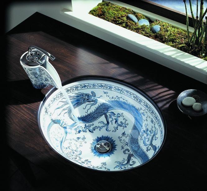 Umywalka niczym japońska ceramika