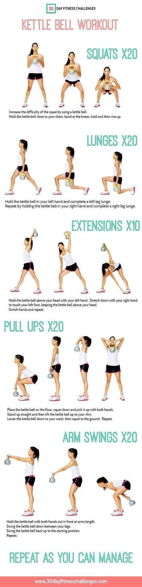 The Kettle Bell is one of the best pieces of fitness equipment for your house that you can invest in. It's one of the most versatile weights that can give you a full body workout, as well as an intense cardio session. It works by combining resistance training (building muscle) with cardiovascular conditioning (getting in … #muscletraining #strengthtraining #musclefitness