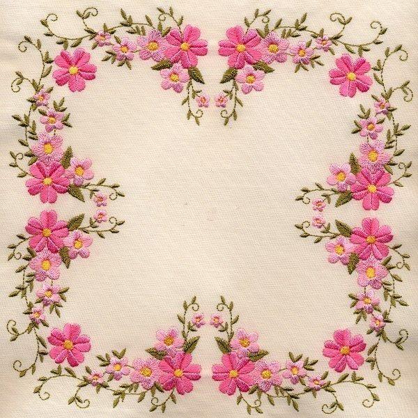 8x8 inch Floral Quilt 3 - Elsas Designs | OregonPatchWorks