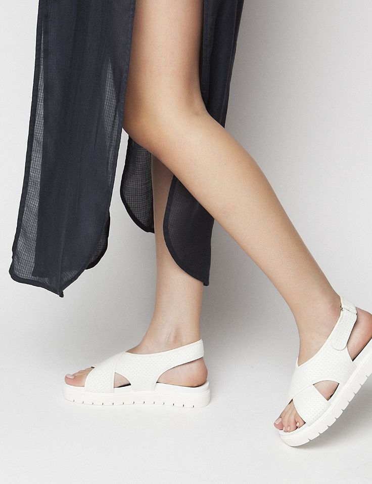 Holly White Sandals S/S 2015 #Fred #keepfred #shoes #collection #neoprene #fashion #style #new #women #trends #white #sandals