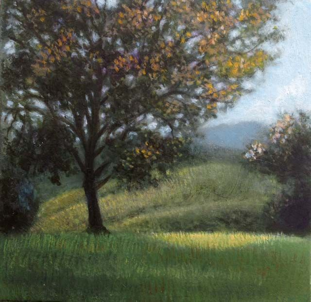 small plein air oil, Tuscany, 2015. 10 x 10 cm Patricia Glee Smith