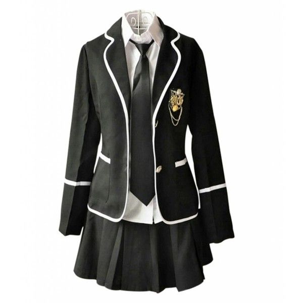 Lemail Wig New Autumn and Winter British School Uniforms Suit and... ($5.49) ❤ liked on Polyvore featuring dresses, outfits and shirts