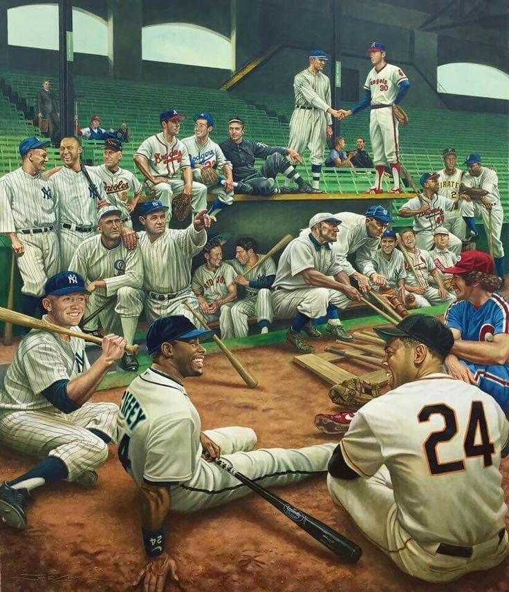 This is one of the greatest baseball paintings out there.