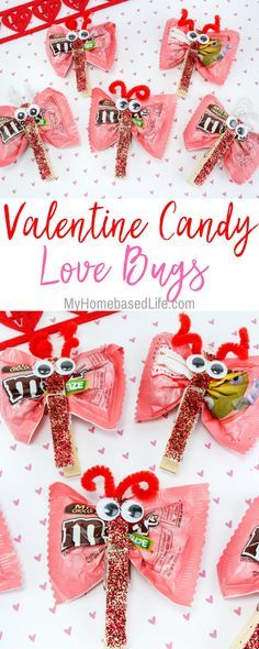 DIY Craft: A great DIY for kids that they can take to school and share with classmates. Valentine Candy Love Bugs Craft is the way to go for kid-approved fun. <a class=