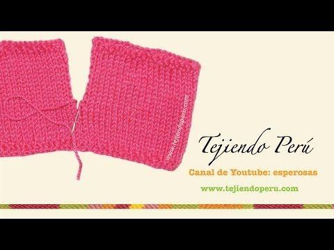 Dos agujas: costura invisible de piezas laterales - YouTube