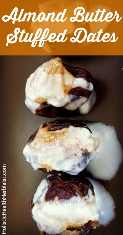 Almond Butter Stuffed Dates - Try these amazing almond butter stuffed dates for fast long lasting energy!