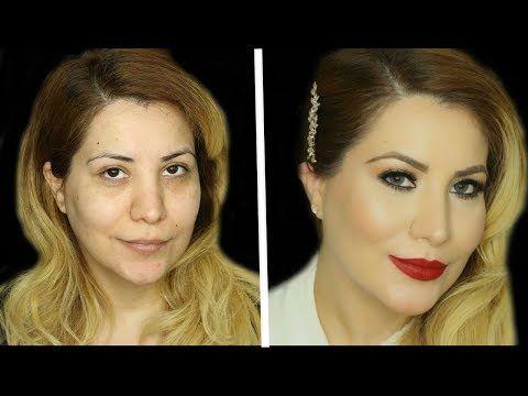 tutorial de maquillaje para navidad,año nuevo | maquillaje completo para fiesta de noche - YouTube