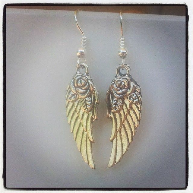 Silver Wings Earrings $5 Aust. From Rags To Bags on FaceBook.