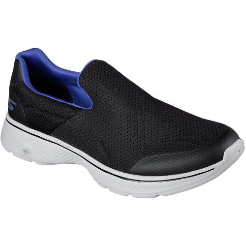 Shoes Outlet - Skechers Go Walk 4 Incredible Navy Grey Mens Low Top Trainers