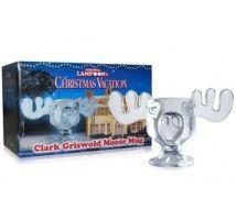 National Lampoon's Christmas Vacation Glass Moose Mug Eggnog Goblet 300