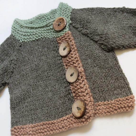 SWEET OLIVE unisex baby cardigan by evahandmade on Etsy