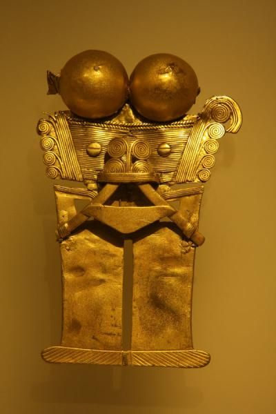 Golden artifact in the Gold Museum | Museo del Oro | Colombia <3