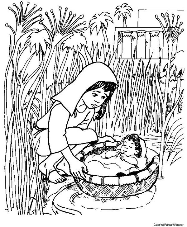 Moses Theme Coloring Pages | Coloring Pages For Kids