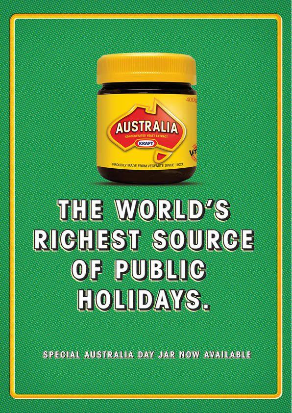 Vegemite Australia Day ad by Gabriel Woodmansey, via Behance