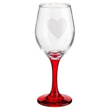 Valentine's Day Wine Glass