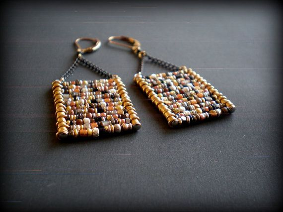 Hey, I found this really awesome Etsy listing at https://www.etsy.com/listing/226300768/mixed-metal-earrings-ladder-earrings