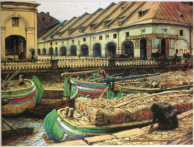 Лансере Никольский рынок в Петербурге 1901 - Санкт-Петербург в искусстве — Википедия