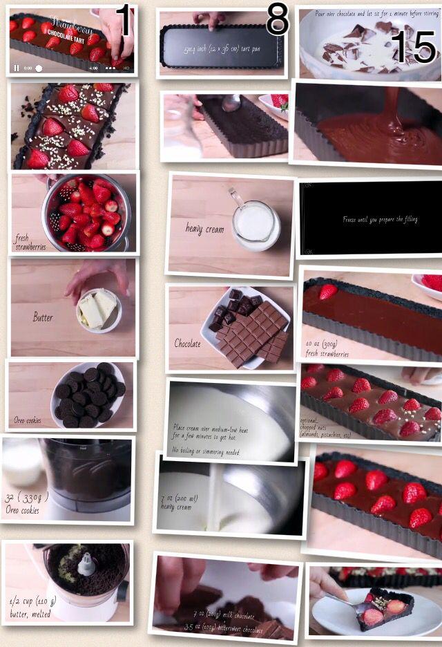 Torta Oreo de chocolate e morango