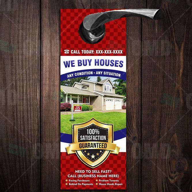 We Buy Houses Door Hanger 8 We Buy Houses Home Buying House Doors