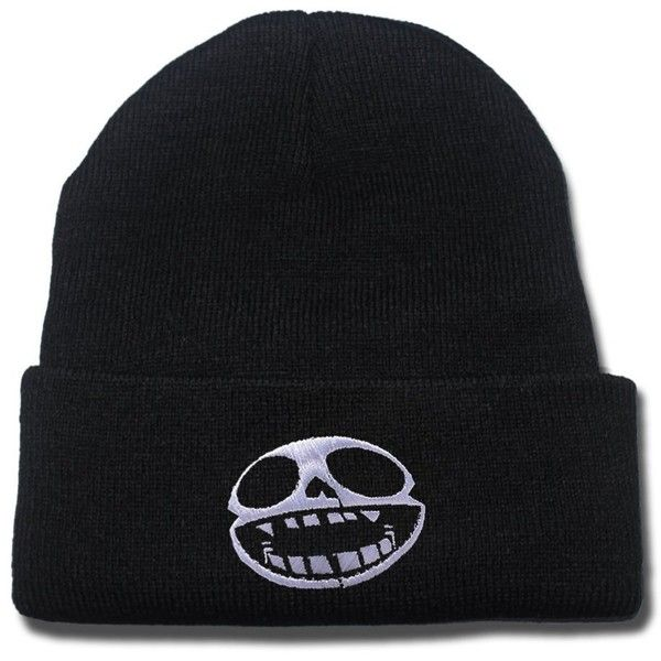 HEJIAXIN Gorillaz Band Logo Beanie Fashion Unisex Embroidery Beanies... ($5.99) ❤ liked on Polyvore featuring accessories, hats, skull cap hat, skull cap beanie, skull hat, skull beanie and embroidered caps