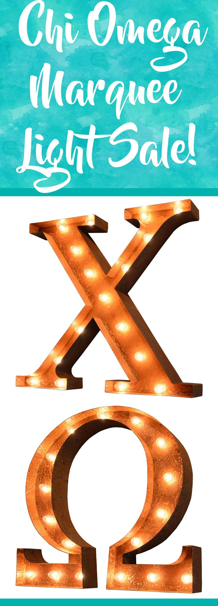 chi omega vintage marquee lights sale greek letter sale was 59999