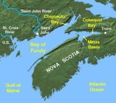 Just in case you didn't know exactly where the Bay of Fundy was.