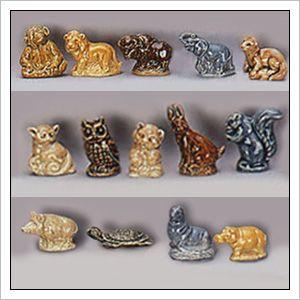 American Series #1 1983-1985  Monkey, Buffalo, Bear Cub, Rabbit, Standing Squirrel, Otter, Seal, Wild Boar, Turtle, Elephant - 15 piece set - ( I need Lion, Bird(not shown), Bush Baby,  Owl, Baby Hippo) - 15 piece set