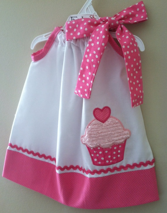 Adorable New Cupcake pillowcase style dress by fridascloset1, $25.00