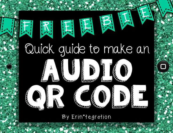 This FREE guide includes visual step-by-step directions to creating an audio QR code using a free website. Audio QR codes are scanned barcodes that will read aloud the text input to whoever scans it! Audio QR codes make great answer keys to task cards, secret bucket-filling messages & compliments, and talking word walls.