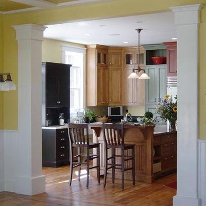 31 best Columns images on Pinterest | Kitchen modern, Open kitchens ...