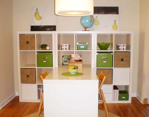 I want this for our future playroom- from ikea the whole shelving/table unit is only $317! What a great craft area/toy storage